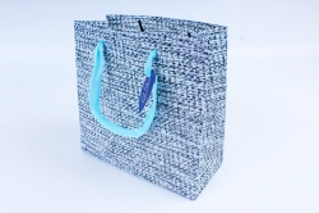 Сумка  Люкс  Вязание голубо/синяя (20*20*9) L206 Цена за 1шт