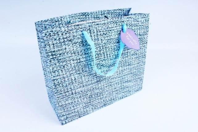 Сумка  Люкс  Вязание голубо/синяя  L207 Цена за 1шт