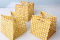 Сумки для цветов пластиковые (горшеч.) 10,5х10,5х10,5см желтый (10шт в уп)