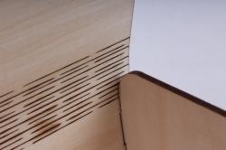 сундучок с гнутой крышкой с замочком №2 (дл.12см;шир.9см;выс.9см) фанера 3мм, оформл.пу110-00-0303