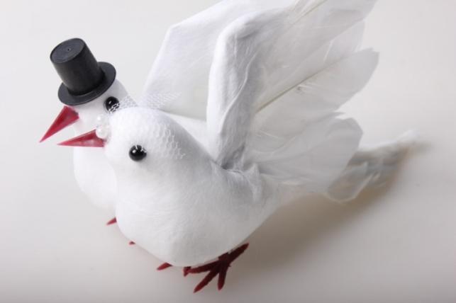 Свадебные голуби искусственные 2 шт Н14АТ219