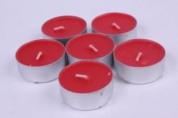 Свеча чайная 12 гр ароматизир. 6шт/уп клубника  001806
