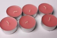 свеча чайная 12 гр ароматизированная 6шт/уп  роза 001826