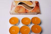 Свеча чайная 12 гр ароматизированные 6шт/уп апельсин 001807