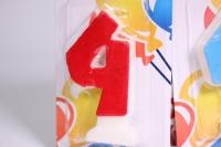 свеча цифра 4 цветная  800314с
