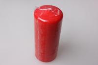 Свеча пеньковая 5х11,5см красная (1шт) 079318