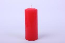 Свеча пеньковая d=7 h=16см  красная  (1шт)  079718
