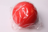 Свеча шар d=80мм красный (1шт) 085118