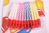 Свечи 2-х цветные 5,5см в пластиковых держателях 24 шт  132463