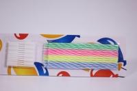 Свечи 2-х цветные тонкие 10,5см с держателями 12 шт  132457