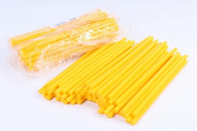ТермоКлей цветной  (7*200 мм) -8789-желтые 1000 г