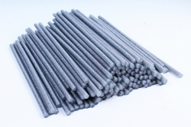 ТермоКлей цветной   (7*200 мм) -000-  Глиттер серебро 1000г