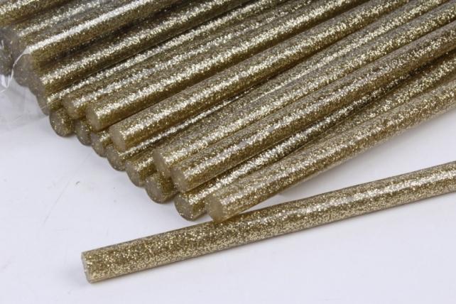 ТермоКлей цветной   (11,2*200 мм) 8114  Глиттер золото 1000г