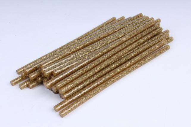термоклей цветной   (7*200 мм) -00-  глиттер золото светлый 1000г