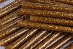 термоклей цветной   (7*200 мм) -000-  глиттер золото  темный 1000г