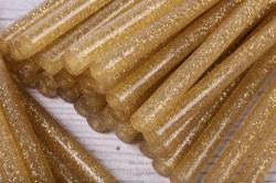 термоклей цветной   (7*200 мм) -0000-  с золотыми блестками 1000г