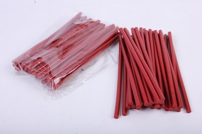 термоклей цветной  (7*200 мм) -8788- красные 1000г