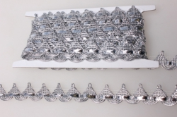 Тесьма цепочка (серебро)  KR68 7476
