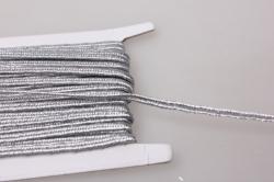 Тесьма декоративная Шнур плоский (серебро) 5 ярдов 7452