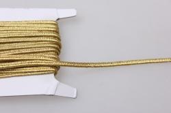 Тесьма декоративная Шнур плоский (золото) 5 ярдов 7445