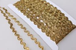 Тесьма змейка (золото)  KR58 7377