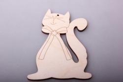Тильда Сидячий кот 10х7,5см, фанера 4мм 101089