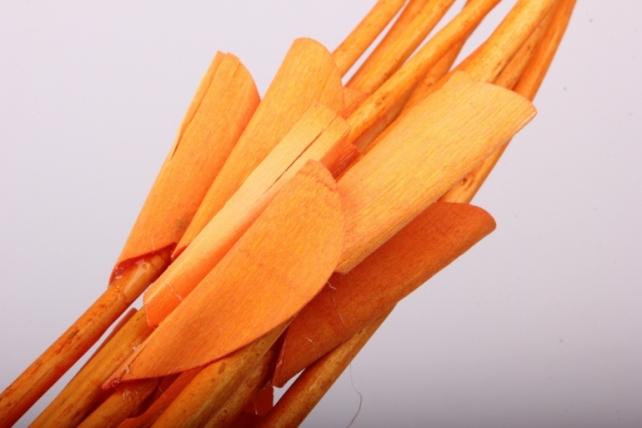 тинги декор с листиками пр. 120см 1/10шт оранжевый