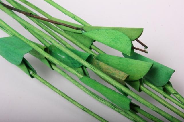 тинги декор с листиками пр. 120см 1/10шт. салатовый