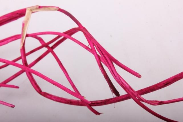 тинги декор с листиками пр. 120см 1/10шт. яр.розов