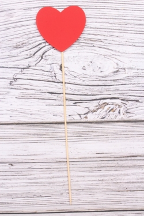 "Топпер (Т) ""Сердце красное"" h=28см"