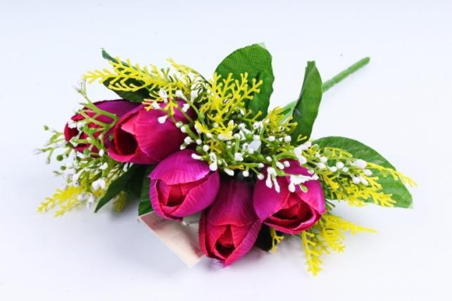 Тюльпан с декором фиолетовый