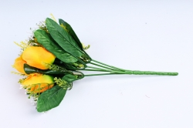 Тюльпан с декором жёлтый