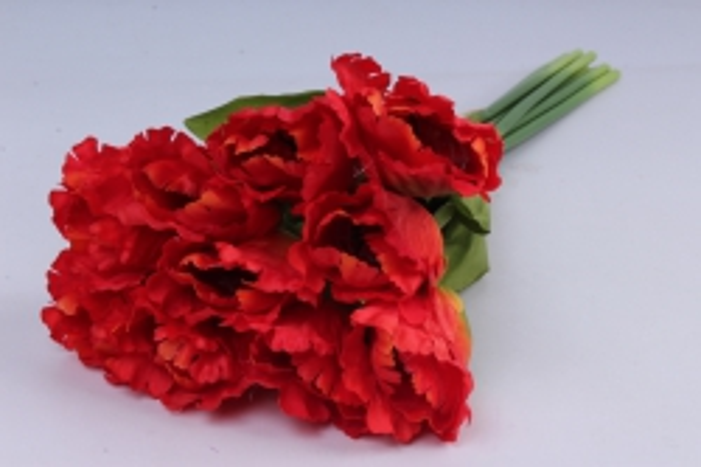тюльпаны букет 45 см (10 шт в уп) красные art007