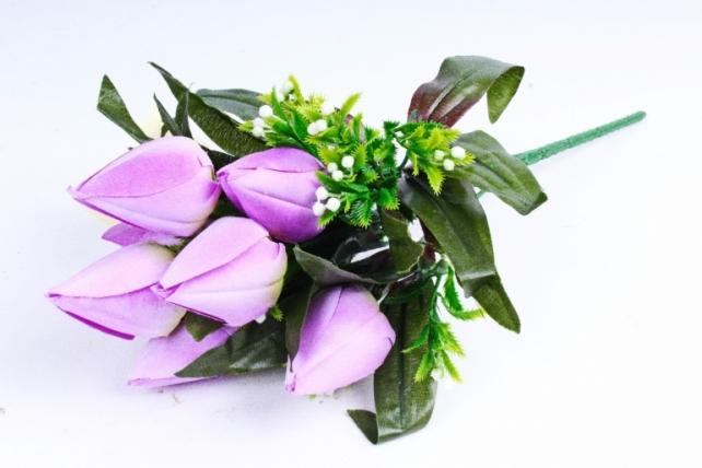 Тюльпаны с росянкой сиреневые