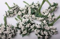 тычинки белые (12 букетов по 12шт)