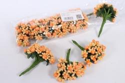 тычинки с ягодами оранжевые (12 букет. по 12шт)