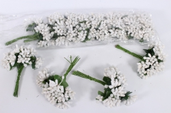 тычинки сахарные белые (12 букет. по 12 шт)