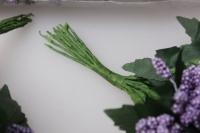 тычинки сахарные сирень с листочками 7см ( 144 шт в уп) 1631