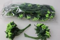 тычинки  салатовые с лист. 7см ( 144 шт в уп) 1686