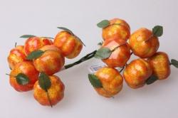 Тыква желтая 3см (12 пучков по 6 шт) икусственные фрукты