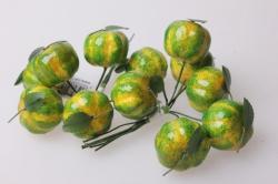 Тыква зеленая 3см (12 пучков по 6 шт) искусственные фрукты