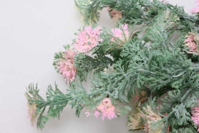 тысячелистник розово/салатовый ветка 30см 1598 - искусственные растения