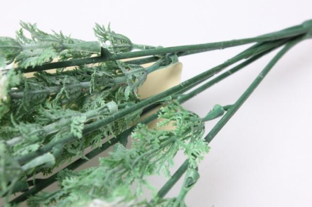 тысячелистник зелено/белый ветка 30см 1581 - искусственные растения