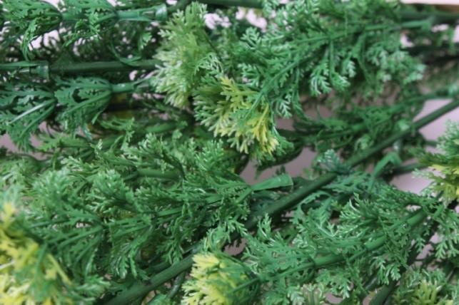 тысячелистник зелено/салатовый ветка 30см 1574