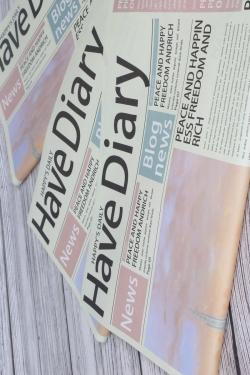 """Упак. материал флористическая крафт-бумага """"Хорошие новости"""", 52 х 58 см, 20 лист, салатовый 1649М"""