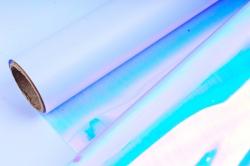 """Упак. материал флористическая пленка """"Акварель"""", 53 мкр, 58 см х 5 м, голубой (М) 1337"""