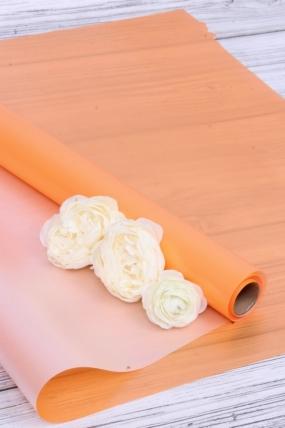 """Упак. материал флористическая пленка """"Элегант"""", 55 мкр, 58 см х 10 м, оранжевый 3472М"""