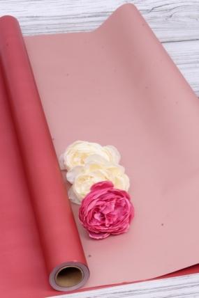 """Упак. материал флористическая пленка """"Ля Розе"""", 58 см х 10 м, красный 4078М"""