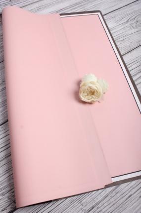 """Упак. материал флористическая пленка """"Пастель"""" 60 мкр, 58 см х 58 см, 20 л./упак., чайная роза 1021М"""