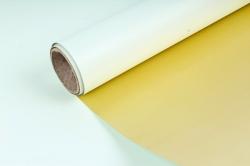Упак. материал флористическая пленка с золотом, 58 см х 5 м, салатовый (М) 9594
